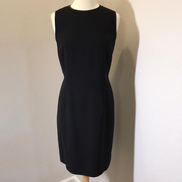 Talbots Dresses Black Woven Sleeveless Sheath Dress Poshmark